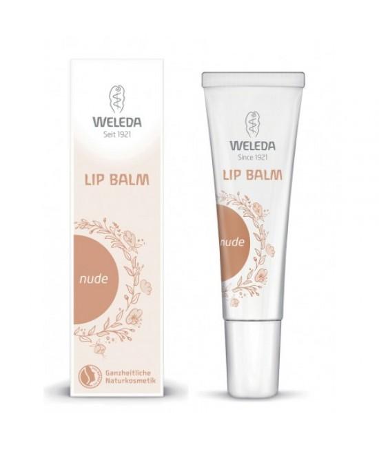 Balsam de buze natural cu o nuanță discretă Weleda Nude