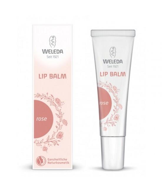 Balsam de buze natural cu nuanță roz Weleda Rose