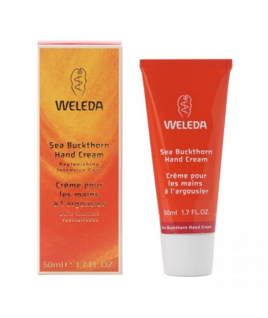 Cremă de mâini hidratantă naturală Weleda cu extract de cătină