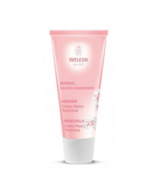 Cremă de mâini hidratantă naturală Weleda cu migdale pentru piele sensibilă