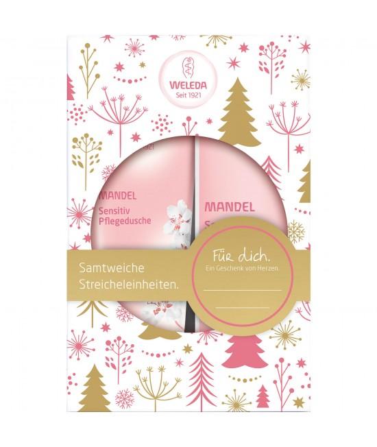 Set cadou Weleda pentru femei - cosmetice naturale pe bază de ulei de migdale