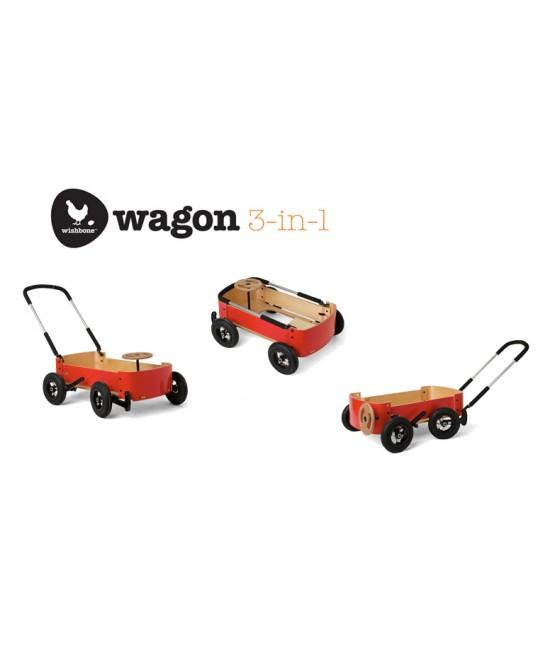 Cărucior tip vagon pentru copii pentru joacă - Wishbone Wagon 3-în-1