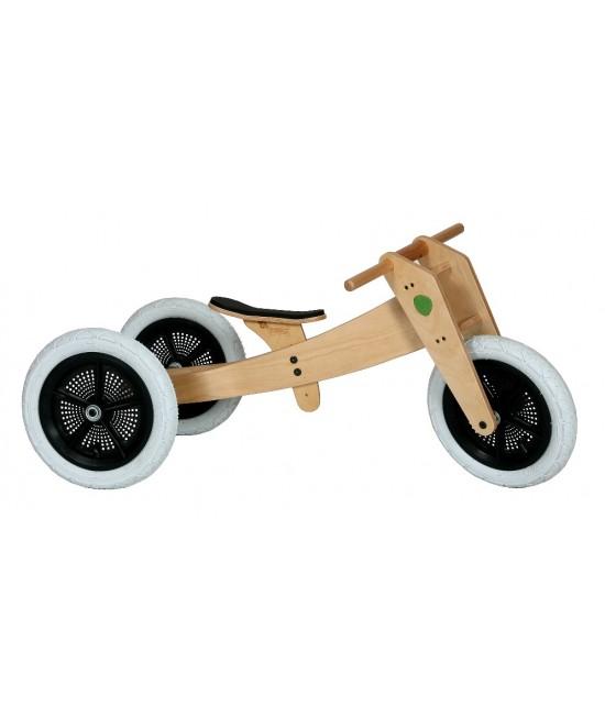 Bicicletă de echilibru Wishbone Design originală 3-în-1 (bicicletă din lemn fără pedale)