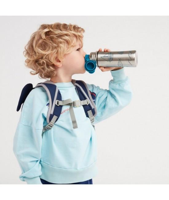 Sticlă din oțel inoxidabil Affenzahn Teal pentru copii