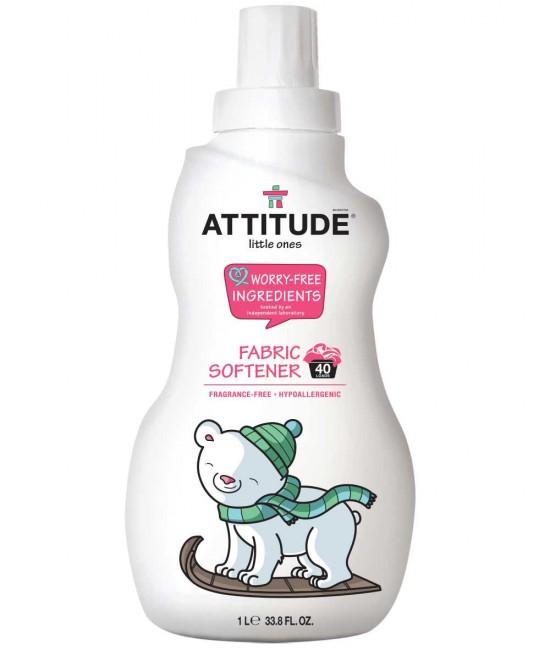 Balsam ecologic pentru hainele bebelușilor Attitude fără miros - 1 litru