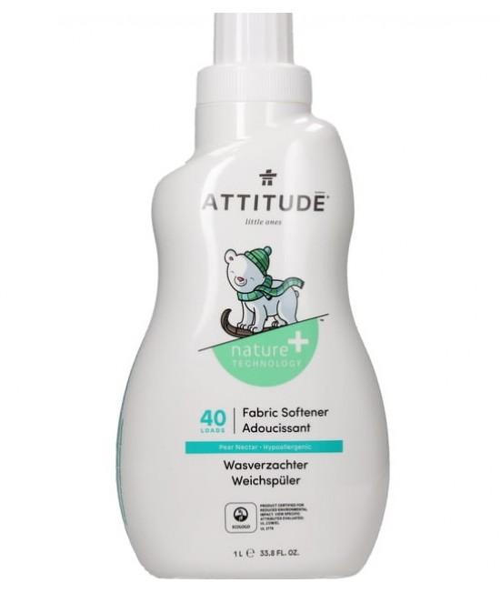 Balsam ecologic pentru hainele bebelușilor Attitude cu nectar de pere - 1 litru