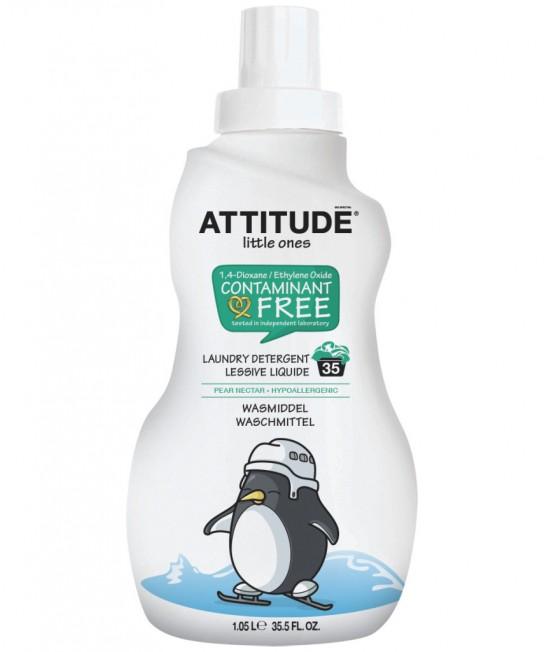 Detergent ecologic lichid de rufe pentru bebeluși - Attitude cu nectar de pere