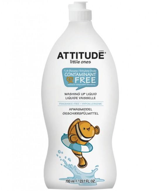 Detergent ecologic lichid pentru vase și biberoane - Attitude fără miros