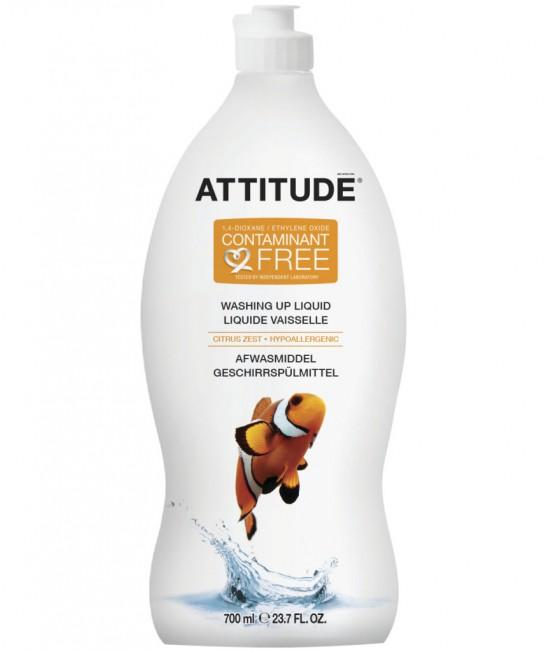 Detergent ecologic lichid pentru vase - Attitude cu coajă de citrice