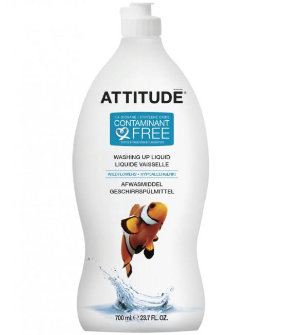 Detergent ecologic lichid pentru vase - Attitude cu miros de flori de câmp