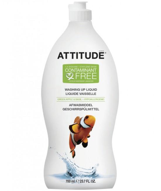 Detergent ecologic lichid pentru vase - Attitude cu măr verde și busuioc