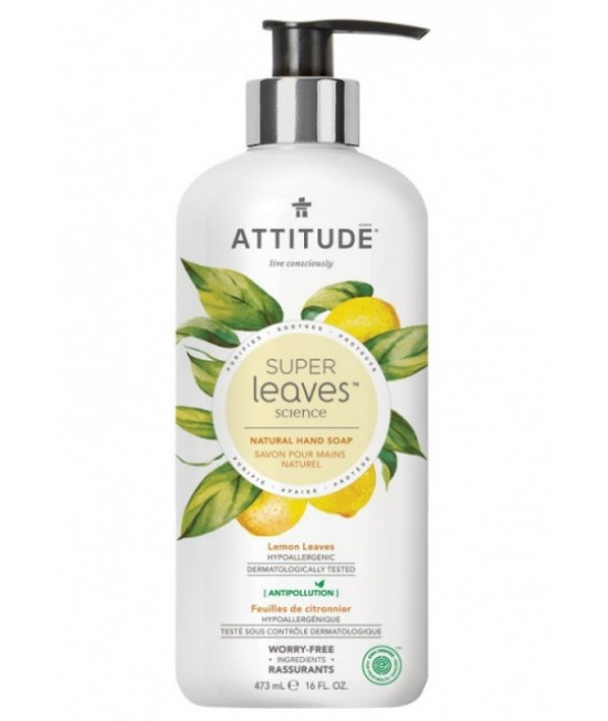 Săpun lichid ECO Attitude cu extract din frunze de lămâi - 473 ml - seria Superleaves