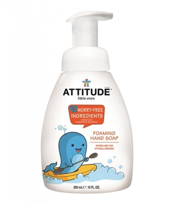 Săpun lichid de mâini ecologic cu spumă, pentru copii, Attitude hipoalergenic - distracție cu spumă