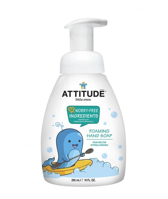 Săpun lichid de mâini ecologic cu spumă, pentru copii, Attitude cu nectar de pere