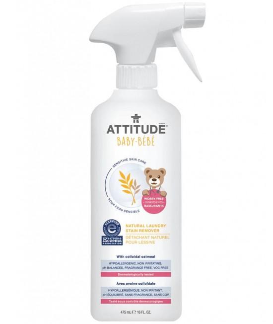 Soluție ecologică SENSITIVE de îndepărtare a petelor de pe hainele copiilor - Attitude fără miros pentru piele sensibilă sau dermatită atopică
