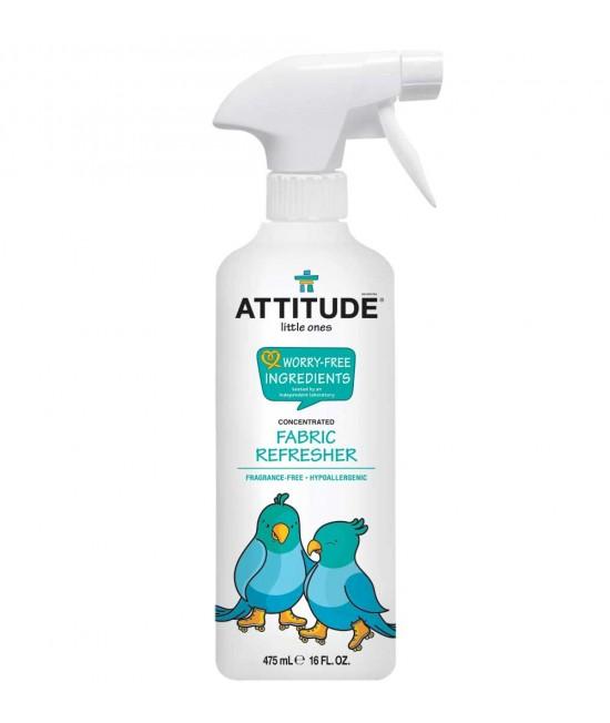 Soluție ecologică pentru eliminarea mirosurilor și reîmprospătarea țesăturilor Attitude Fără Miros - specială pentru hainele copiilor