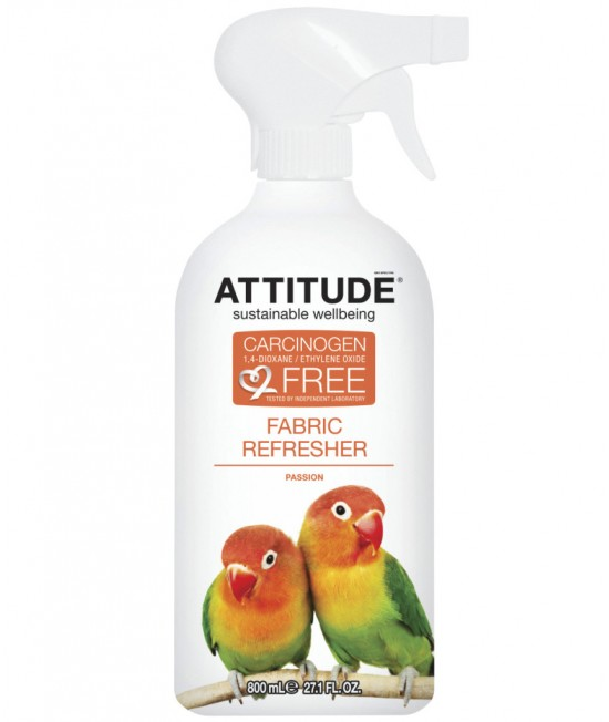 Soluție ecologică pentru eliminarea mirosurilor și reîmprospătarea țesăturilor Atttitude Passion