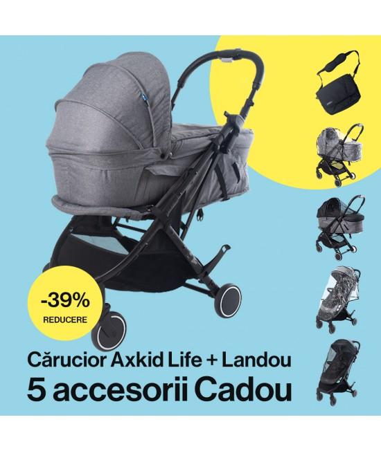 Cărucior pentru copii 2 în 1 Axkid Life (sport + landou) + accesorii!