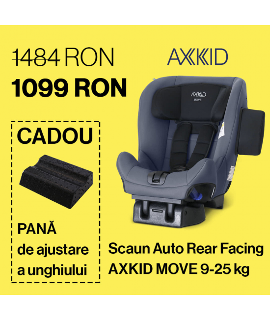 Scaun Auto Rear Facing Axkid Move 9-25 kg + Pană de ajustare