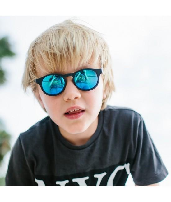 Ochelari de soare polarizați Babiators The Agent - ramă neagră și lentile albastru închis