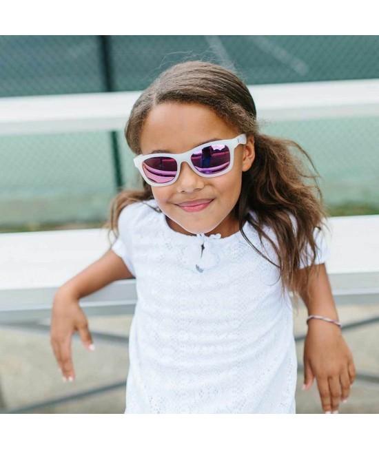 Ochelari de soare polarizați Babiators The Trendsetter - ramă Albă și lentile Mov