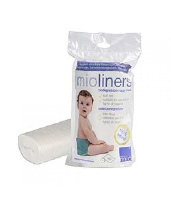 Linere (hârtie de protecţie) Bambino Mio  pentru scutece refolosibile - 160 de bucăți din PLA