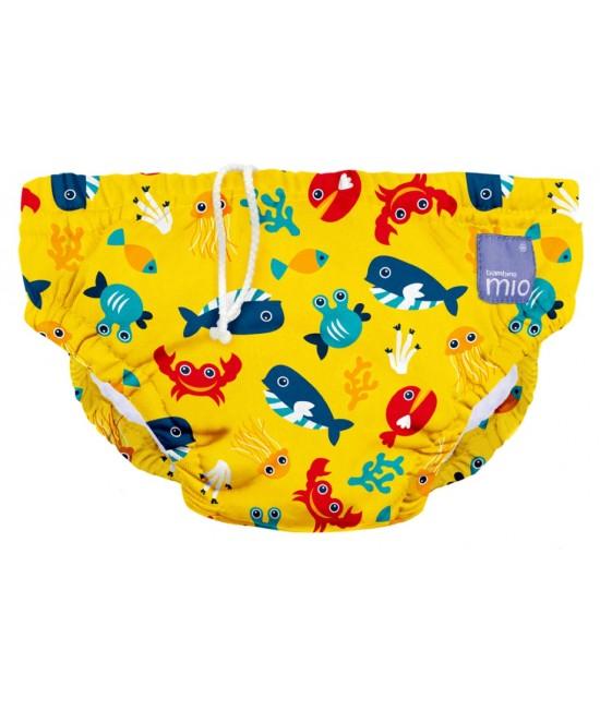 Scutec refolosibil de apă Bambino Mio - Deep Sea Yellow