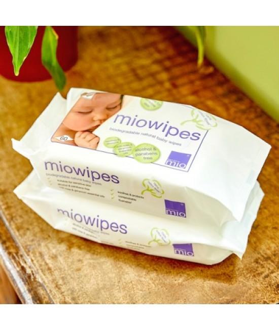 Șervețele umede naturale MioWipes Bambino Mio pentru bebeluși - cu mușetel și aloe vera