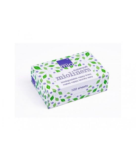 Linere (hârtie de protecţie) Bambino Mio pentru scutece refolosibile - 100 de bucăți din vâscoză, în cutie