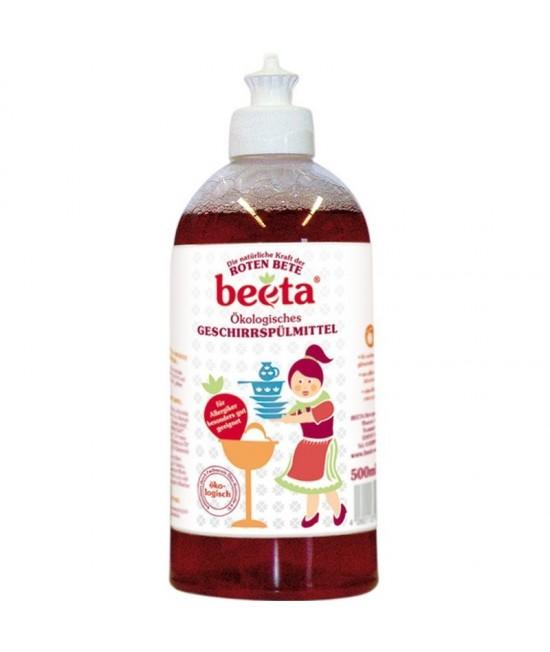 Detergent ecologic pentru vase Beeta cu sfeclă roșie - 500 ml