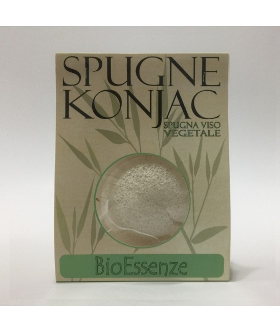 Burete natural Konjac Alb - Bio Essenze