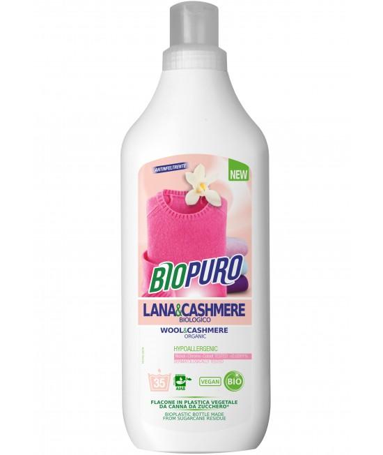 Detergent BIO hipoalergen Biopuro pentru lână, mătase și cașmir