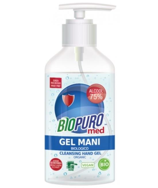 Gel igienizant BIO hipoalergen pentru mâini Biopuro cu alcool și ulei esențial de lămâie - 250ml