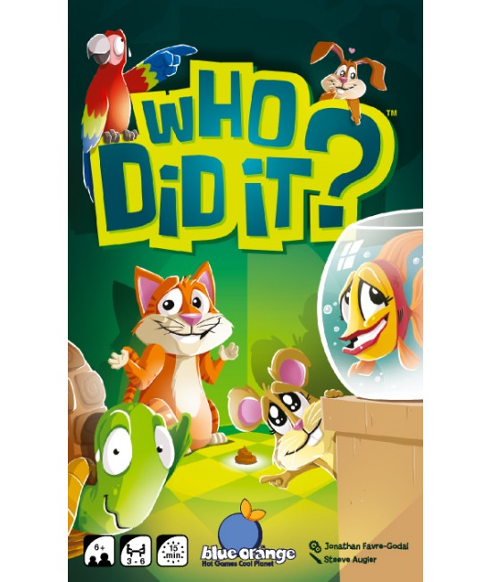 Who did it? - Cine-i făptașul? - joc de cărți distractiv Blue Orange