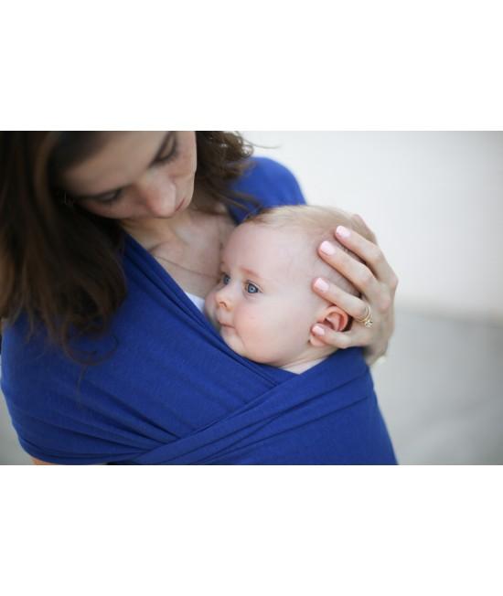 Wrap elastic din bambus pentru purtarea bebelușilor - Boba Dark Blue