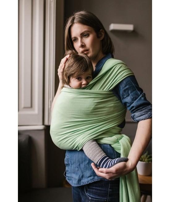Wrap elastic din bambus pentru purtarea bebelușilor - Boba Nile Green