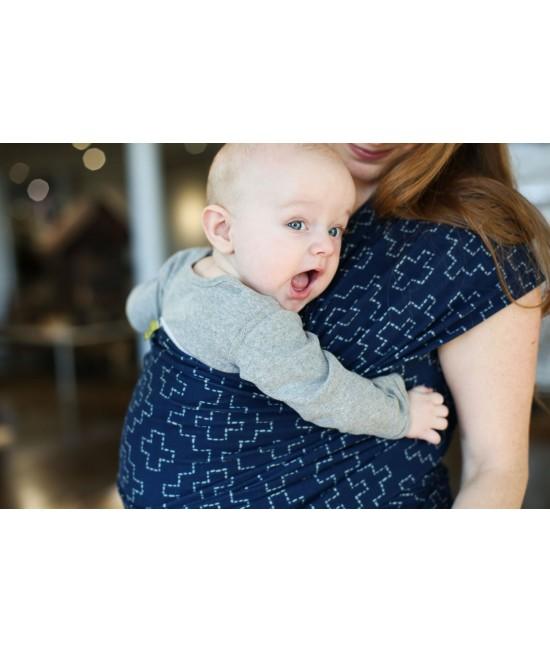 Wrap elastic pentru purtarea bebelușilor Boba ediție limitată Persimmon Sashiko