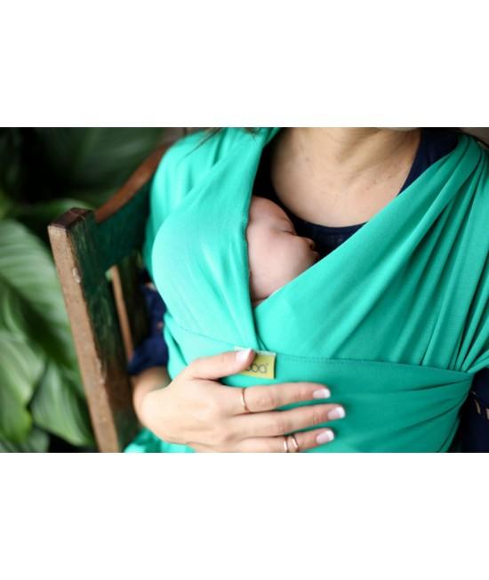Wrap elastic pentru purtarea bebelușilor Boba ediție limitată Emerald
