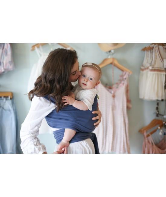 Wrap elastic pentru purtarea bebelușilor Boba ediție limitată Vintage Blue