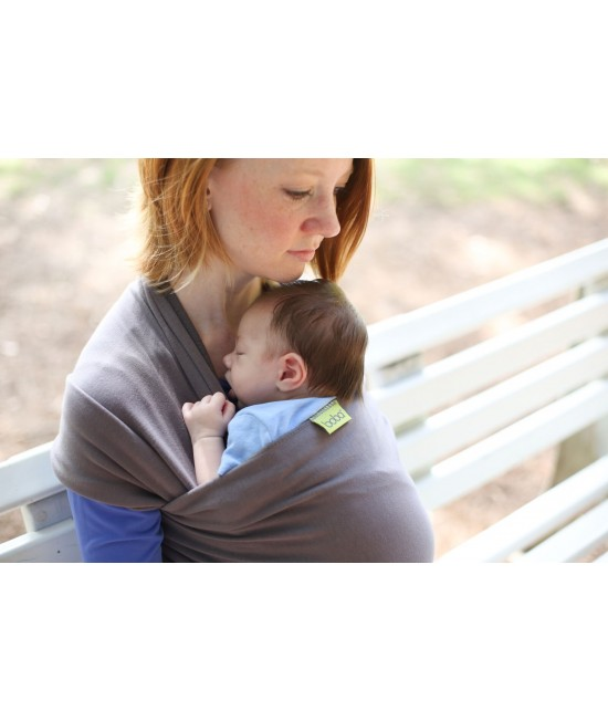 Wrap elastic pentru purtarea bebelușilor Boba Wrap Organic Dark Gray
