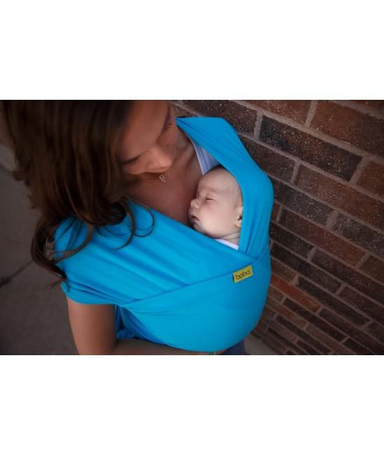 Wrap elastic pentru purtarea bebelușilor Boba Wrap Turquoise