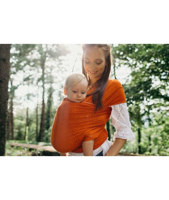 Wrap elastic din bambus pentru purtarea bebelușilor - Boba Sienna Dot Bamboo