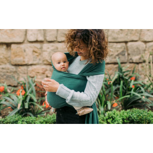 Wrap elastic din bambus ORGANIC pentru purtarea bebelușilor - Boba Organic Bamboo Rainforest