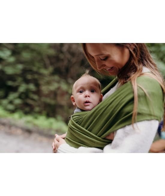 Wrap elastic din bambus pentru purtarea bebelușilor - Boba Pesto