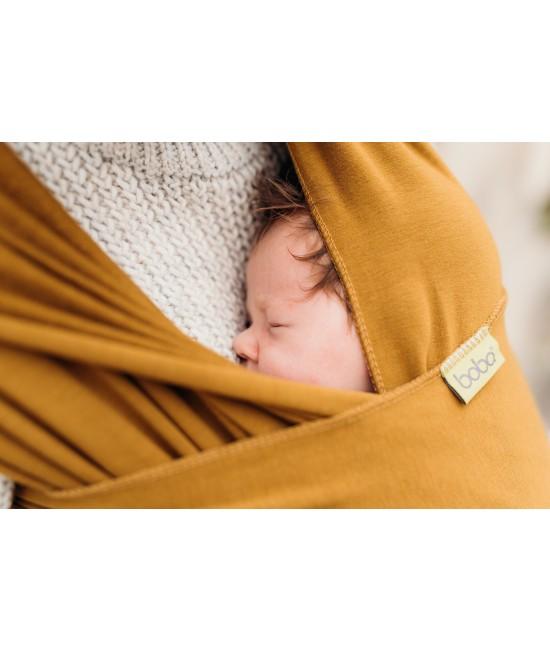 Wrap elastic din bambus pentru purtarea bebelușilor - Boba Tiger's Eye