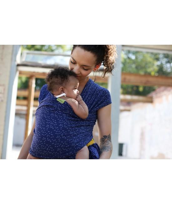 Wrap elastic pentru purtarea bebelușilor Boba Plum Ikat