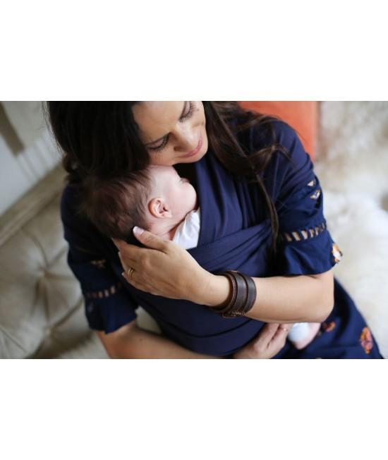 Wrap elastic pentru purtarea bebelușilor Boba Navy Blue (bleumarin)
