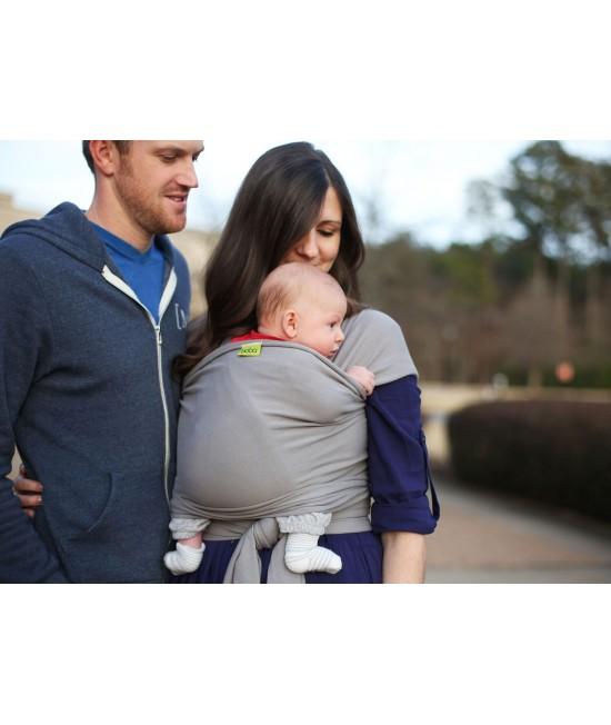 Wrap elastic pentru purtarea bebelușilor Boba Gray (gri)