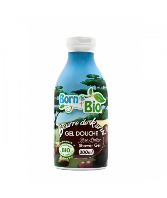 Gel de duș organic Born to Bio cu unt de shea