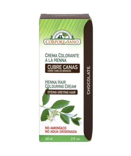Vopsea Henna cremă semipermanentă cu plante - Corpore Sano Ciocolată (cremă gata preparată)